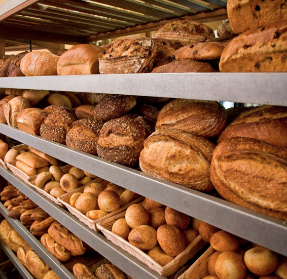 Some of the beautiful, European-style breads available at Bread & Cie.